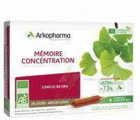Arkofluide Bio Ultraextract Solution buvable mémoire concentration 20 Ampoules/10ml à Mérignac