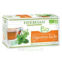 Herbesan Infusion Bio Tisane digestion facile 20 Sachets à Mérignac