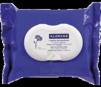 Klorane Soins des Yeux au Bleuet Lingette démaquillante biodégradable 2*Packs/25 à Mérignac
