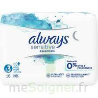 Always Serviettes Sensitives Essentials - Nuit à Mérignac